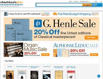 sheetmusicplus.com screenshot