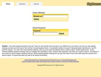 keyrow.com screenshot