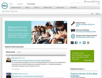 en.community.dell.com screenshot