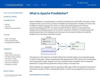 freemarker.org screenshot