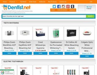 Main page screenshot of dentist.net