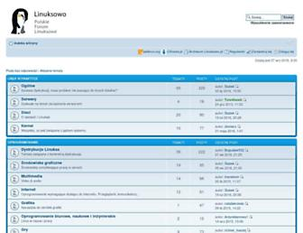 Main page screenshot of linuksowo.pl
