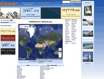 Main page screenshot of ferien.no