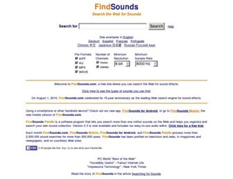 findsounds.com screenshot
