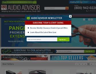 audioadvisor.com screenshot
