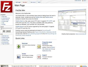 wiki.filezilla-project.org screenshot