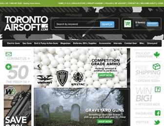 torontoairsoft.com screenshot
