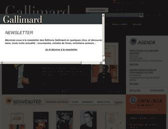gallimard.fr screenshot