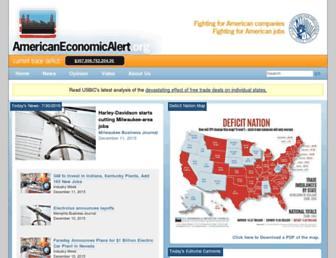 Main page screenshot of americaneconomicalert.org