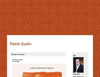 Main page screenshot of patrikgodin.blogg.se