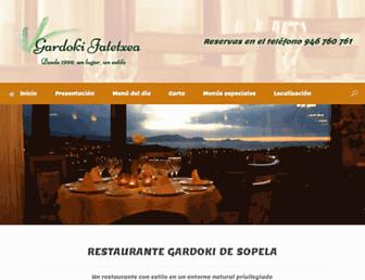 restaurantegardoki.com screenshot