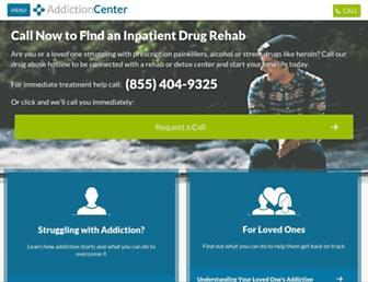addictioncenter.com screenshot