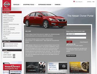 owners.nissanusa.com screenshot