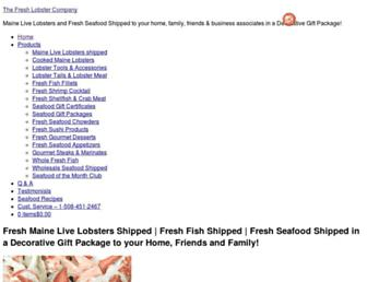 thefreshlobstercompany.com screenshot
