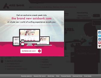 axisbank.com screenshot
