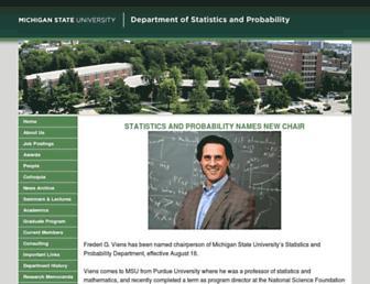 Main page screenshot of stt.msu.edu
