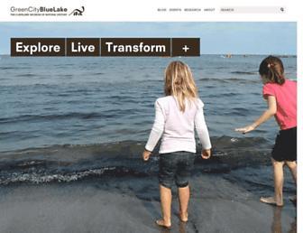 Main page screenshot of gcbl.org
