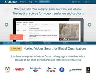 dotsub.com screenshot
