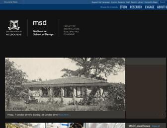 msd.unimelb.edu.au screenshot