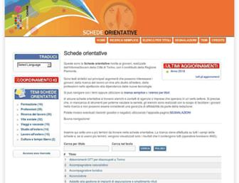 Main page screenshot of bancadati.informagiovanipiemonte.it