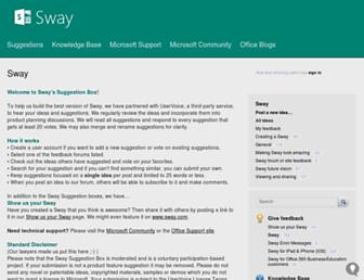 sway.uservoice.com screenshot