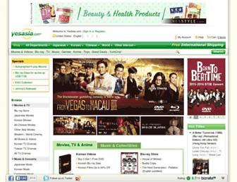 yesasia.com screenshot