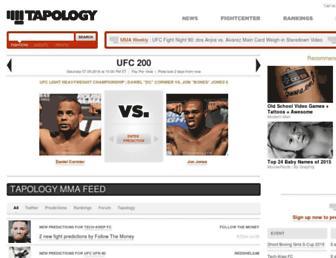 tapology.com screenshot