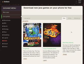 java.gogamz.com screenshot