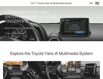 toyota-en-us.visteoninfotainment.com screenshot