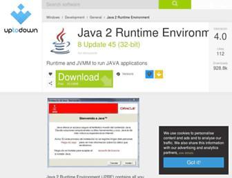 java-2-runtime-environment.en.uptodown.com screenshot