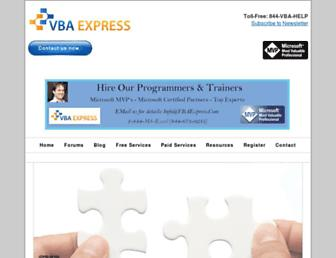 vbaexpress.com screenshot