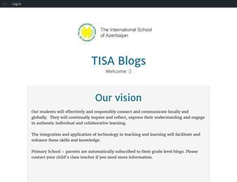 Main page screenshot of blogs.tisa.az