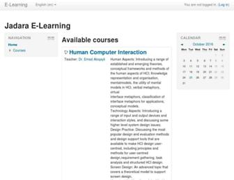 elearning.jadara.edu.jo screenshot