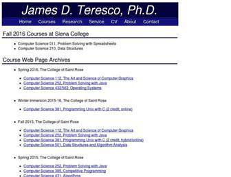 courses.teresco.org screenshot