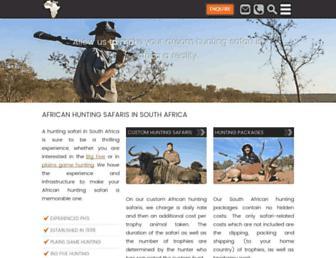 africanskyhunting.co.za screenshot