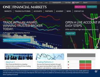 onefinancialmarkets.com screenshot