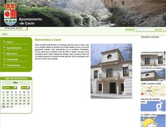 Main page screenshot of cacin.es