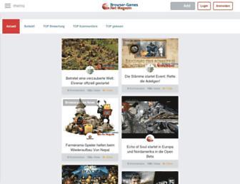 Main page screenshot of browser-games.net