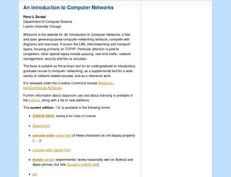 intronetworks.cs.luc.edu screenshot