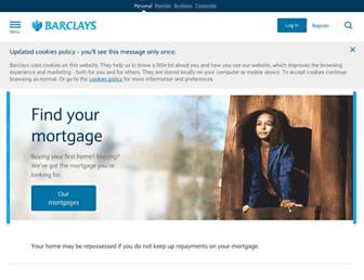 Main page screenshot of barclays.co.uk