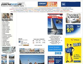 Main page screenshot of poloniaberlin.de