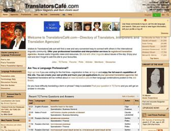 Thumbshot of Translatorscafe.com