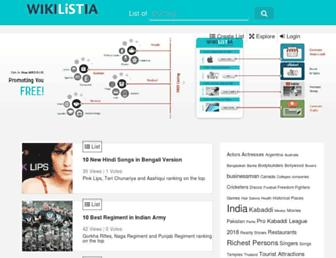 wikilistia.com screenshot