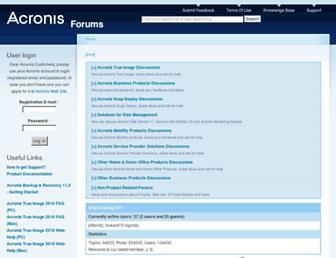 forum.acronis.com screenshot
