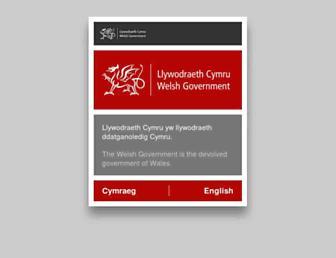 Main page screenshot of wales.gov.uk