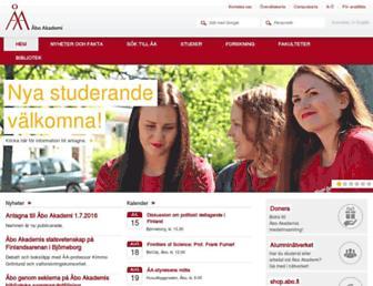 Main page screenshot of abo.fi