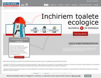 Main page screenshot of toi-toi.ro