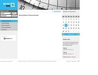 Main page screenshot of messebox.de