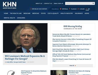 Main page screenshot of kaiserhealthnews.org