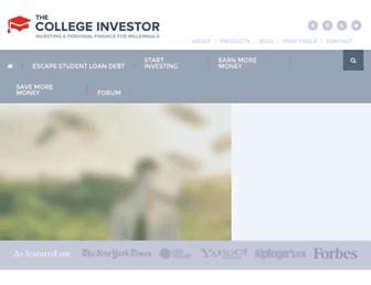 thecollegeinvestor.com screenshot